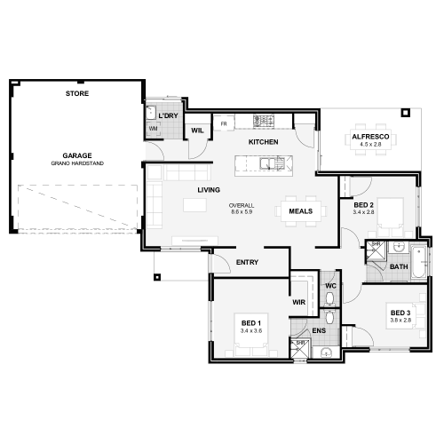 Floorplan for The Acorus