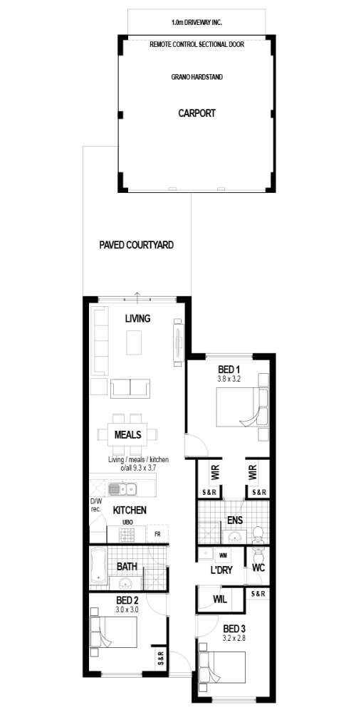 Floorplan for Lot 649 Elvire Grove, Golden Bay