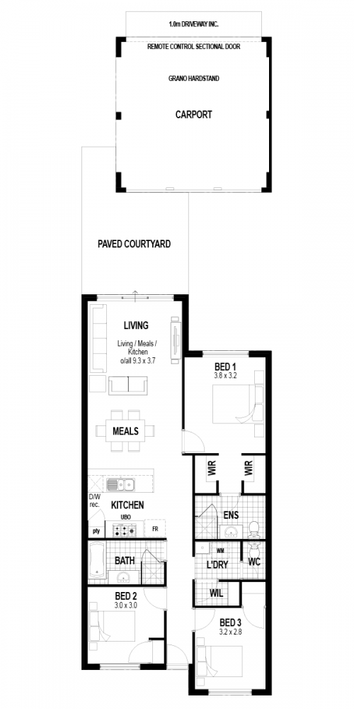 Floorplan for The Ambition