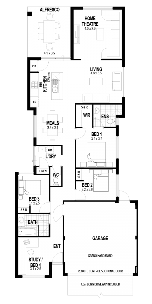 Floorplan for Lot 29 Govan Road, Canning Vale