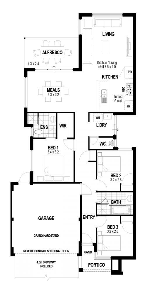 Floorplan for The Atelier