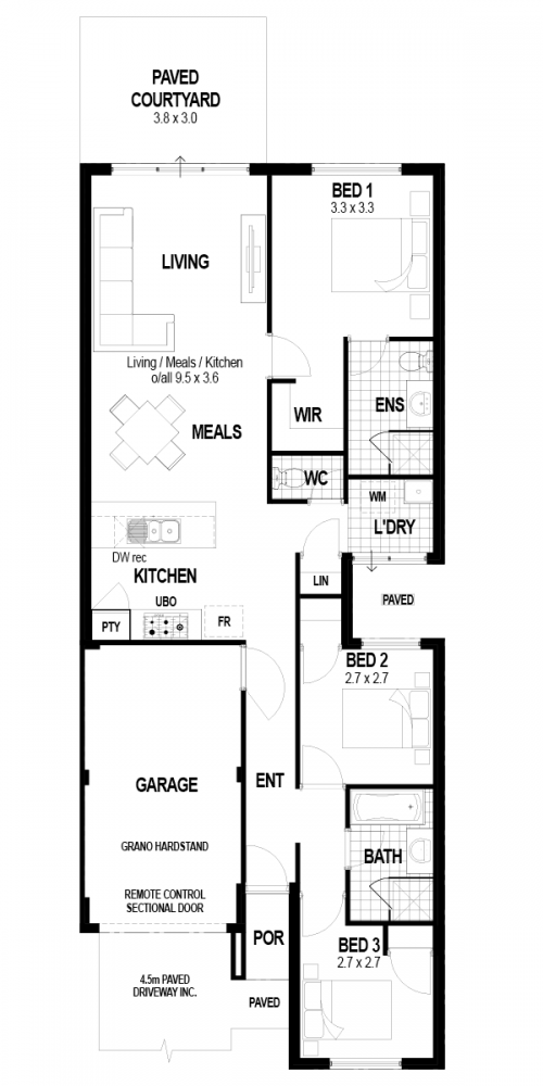 Floorplan for The Breeze