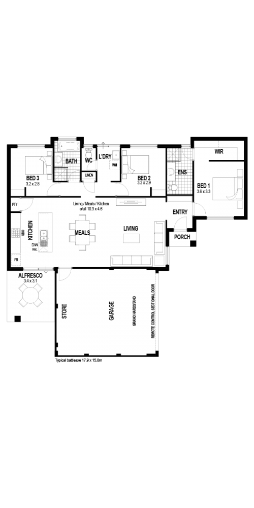 Floorplan for The Caraway