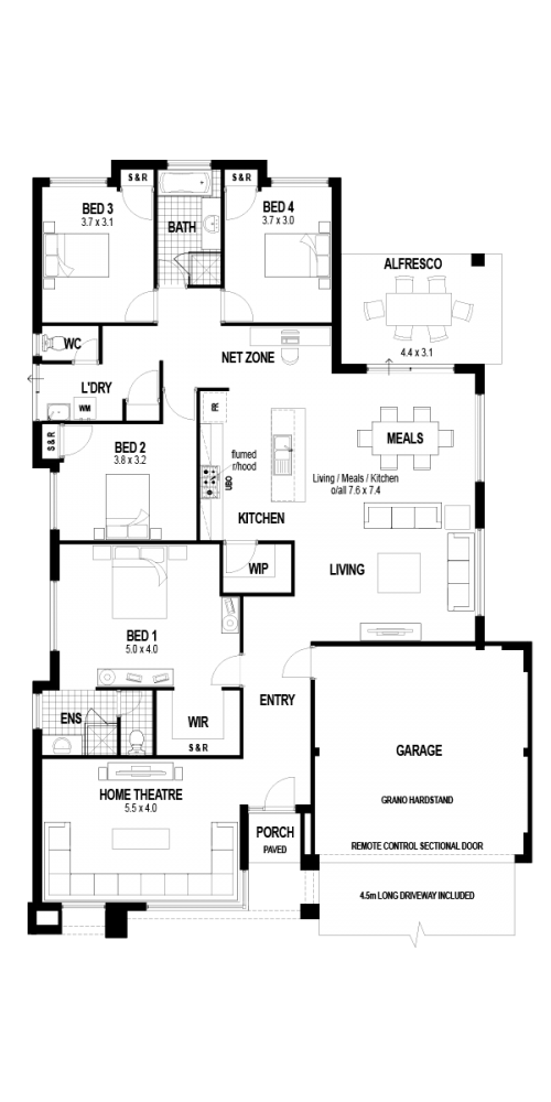 Floorplan for The Clarendon