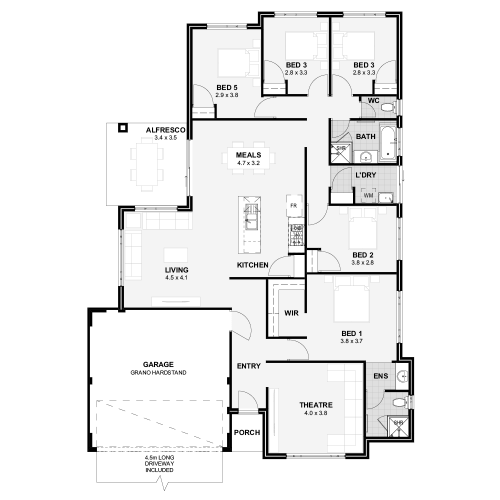 Floorplan for Lot 144 Seaside Estate, Madora Bay