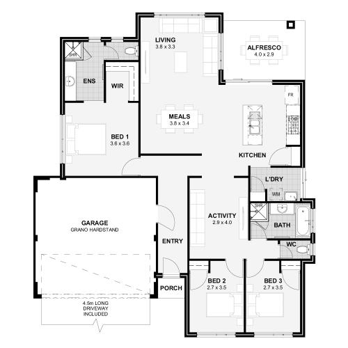 Floorplan for The Destiny