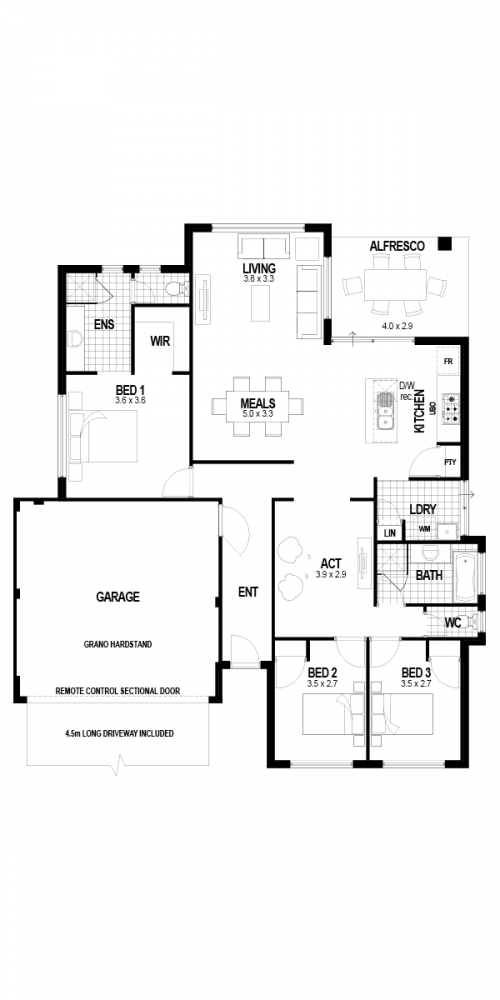 Floorplan for The Destiny