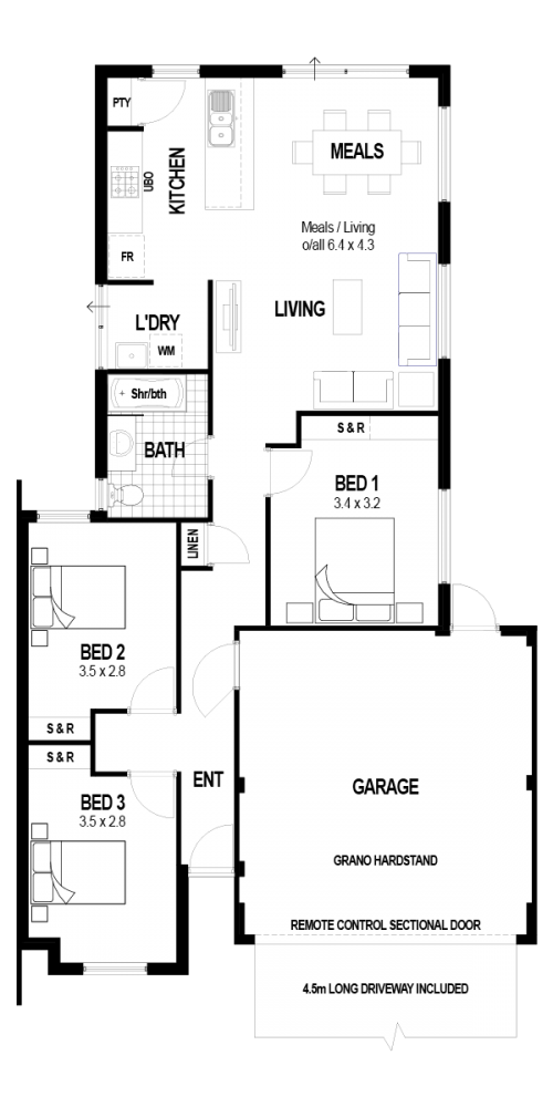 Floorplan for Lot 10832 Glamorgan Loop, Ellenbrook