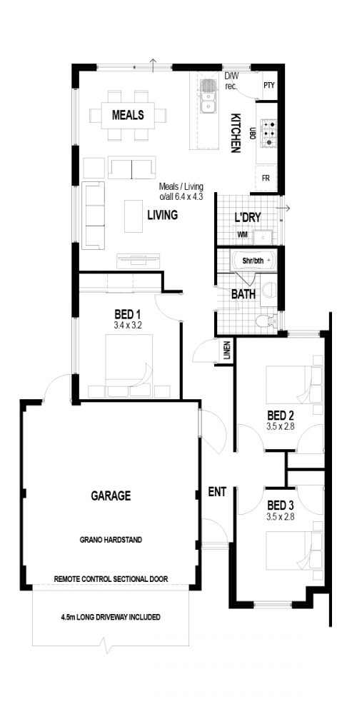 Floorplan for The Discovery