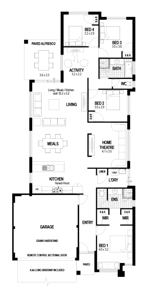Floorplan for The Ellington