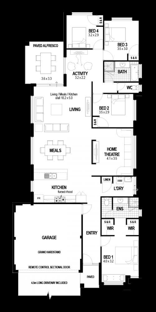 Floorplan for The Ellington