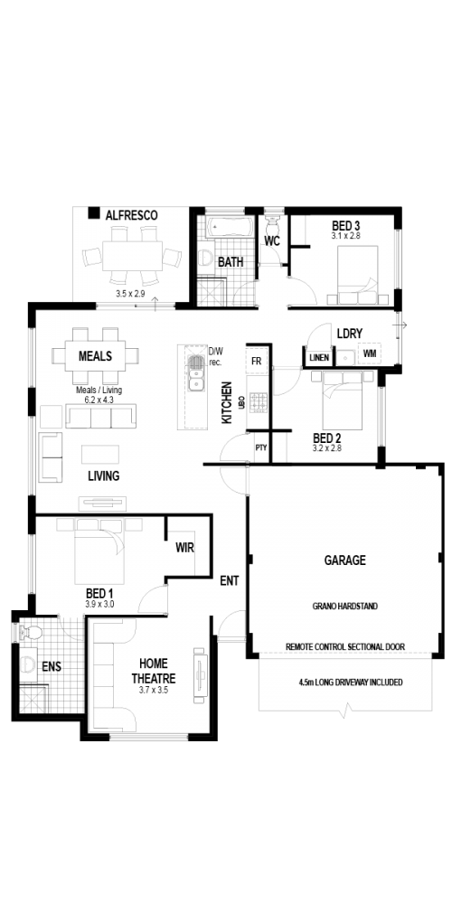 Floorplan for Lot 28 Burrows Loop, Midvale