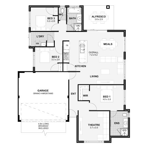 Floorplan for Lot 174 Guava Rise, Upper Swan