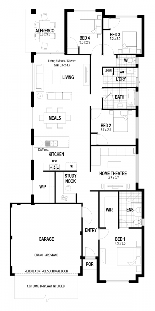 Floorplan for Lot 34 Peartree Grove, Upper Swan