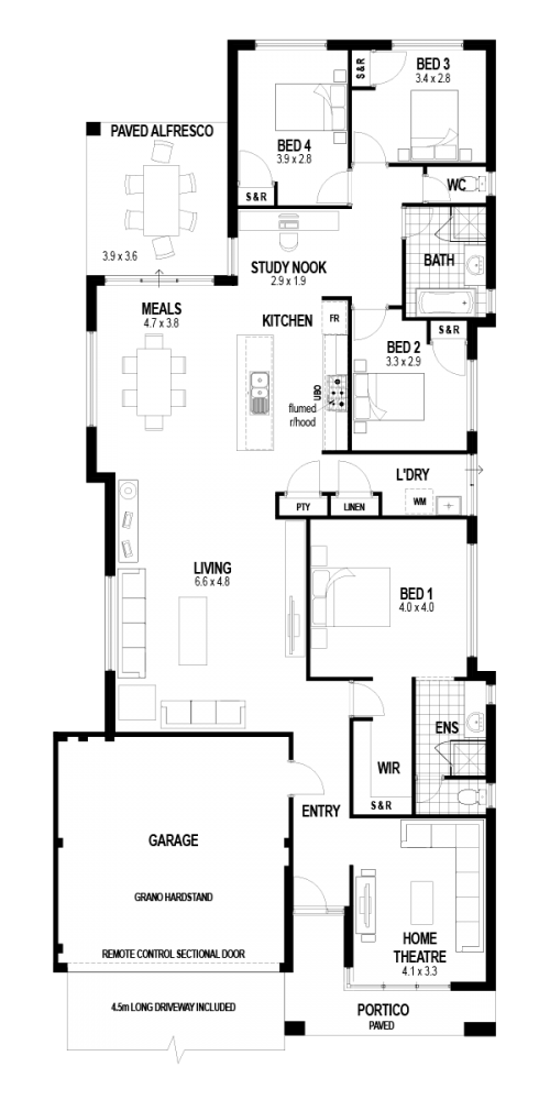 Floorplan for The Florence