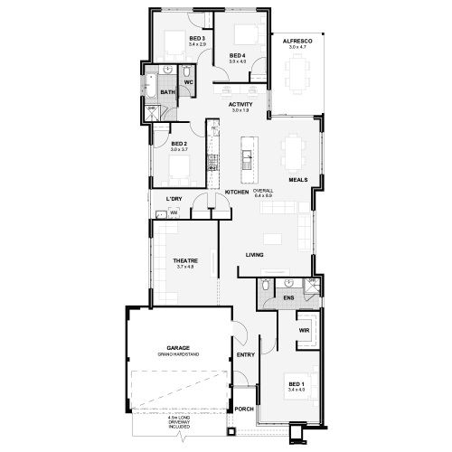 Floorplan for The Hartfield