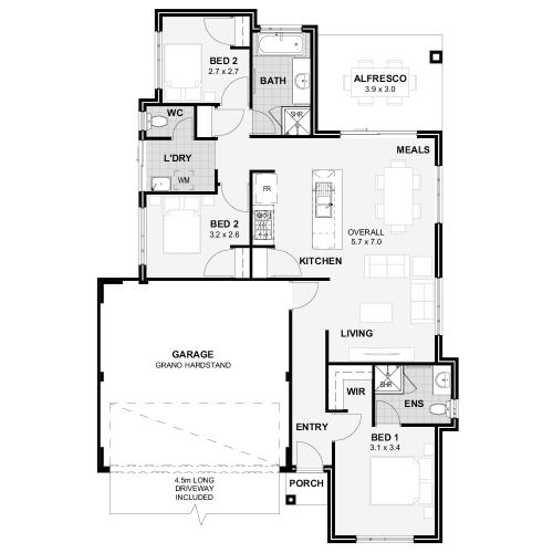Floorplan for The Impression
