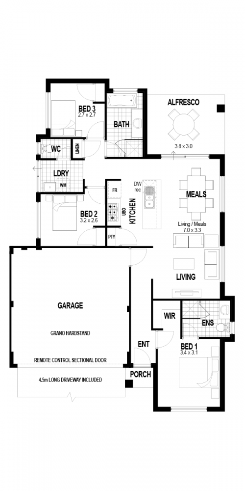 Floorplan for The Impression