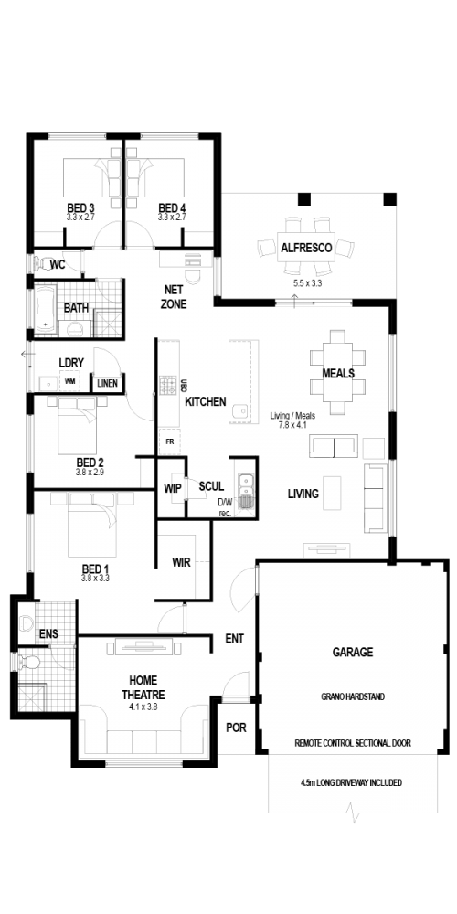 Floorplan for The Indulgence
