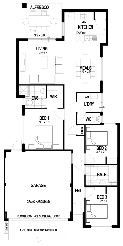 Floorplan for Lot 144 Marara Street, Hilbert