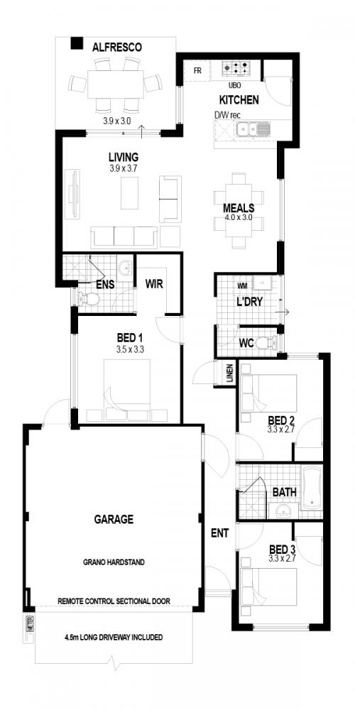 Floorplan for The Inspire