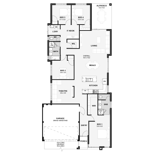 Floorplan for The Liberty