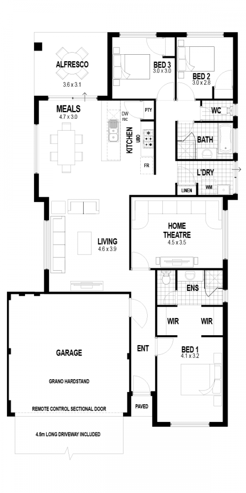 Floorplan for Lot 424 Yoke Chase, Avonlee Estate, Brabham