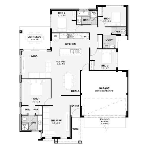 Floorplan for The Montana