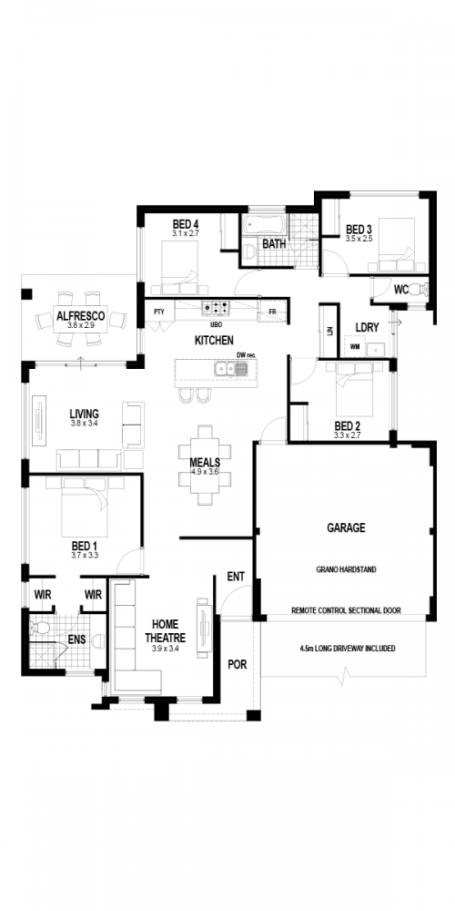 Floorplan for The Montana