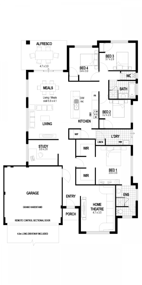 Floorplan for Lot 110 Parrot Street, Byford