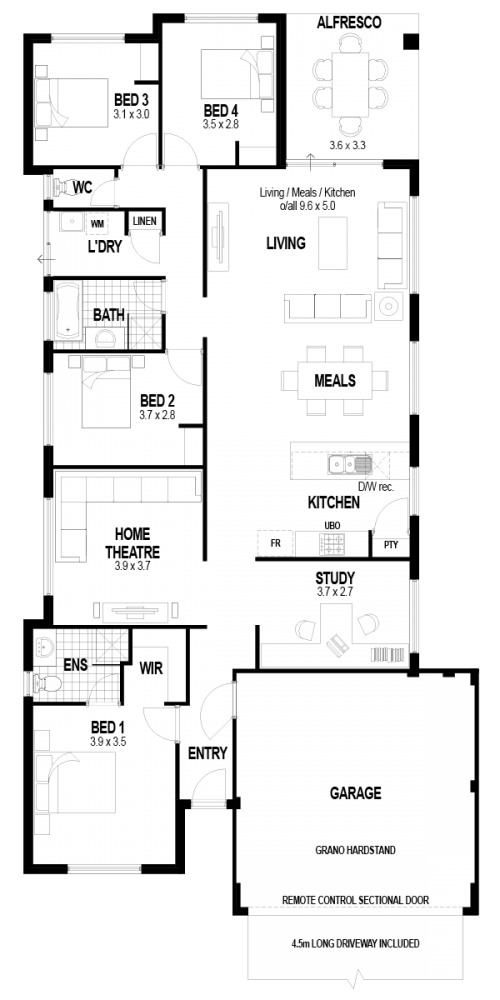Floorplan for Lot 415 Woodville Road, Haynes