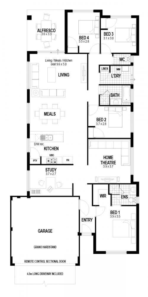 Floorplan for The Passion