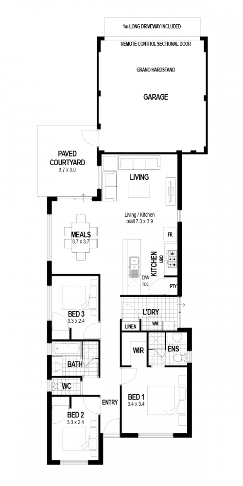Floorplan for Lot 43 Kurbis Way, Wellard