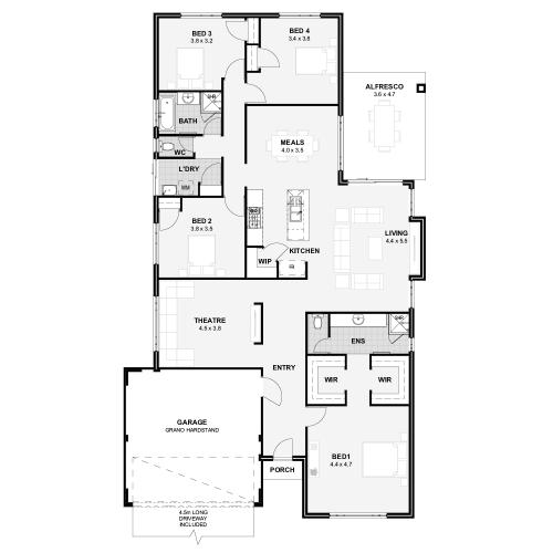 Floorplan for Lot 152 Starapple Chase, Upper Swan