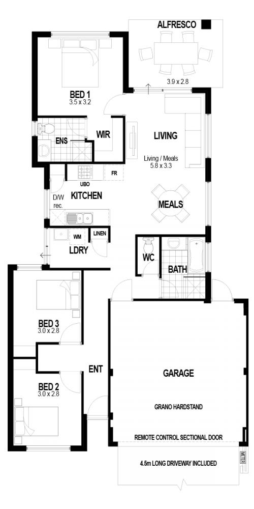 Floorplan for The Prosperity