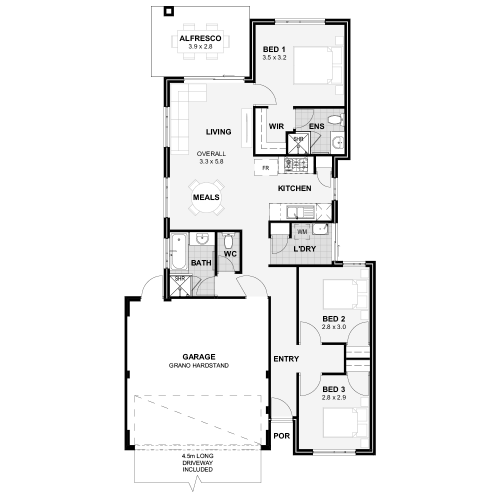 Floorplan for Lot 16 Piara Drive, Piara Court Estate, Piara Waters