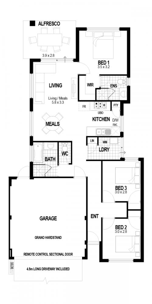 Floorplan for Lot 16 Renne Lane, Port Kennedy