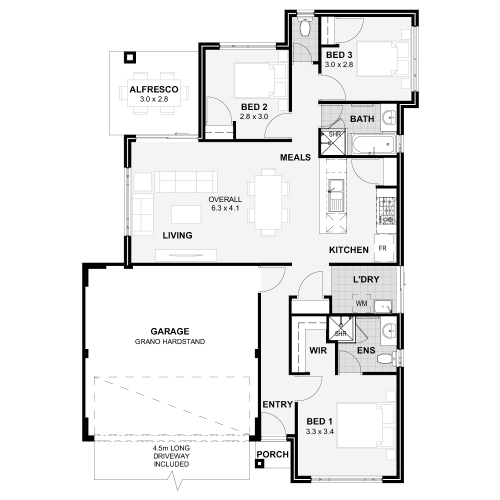 Floorplan for Lot 416 Goran Street, Anketell