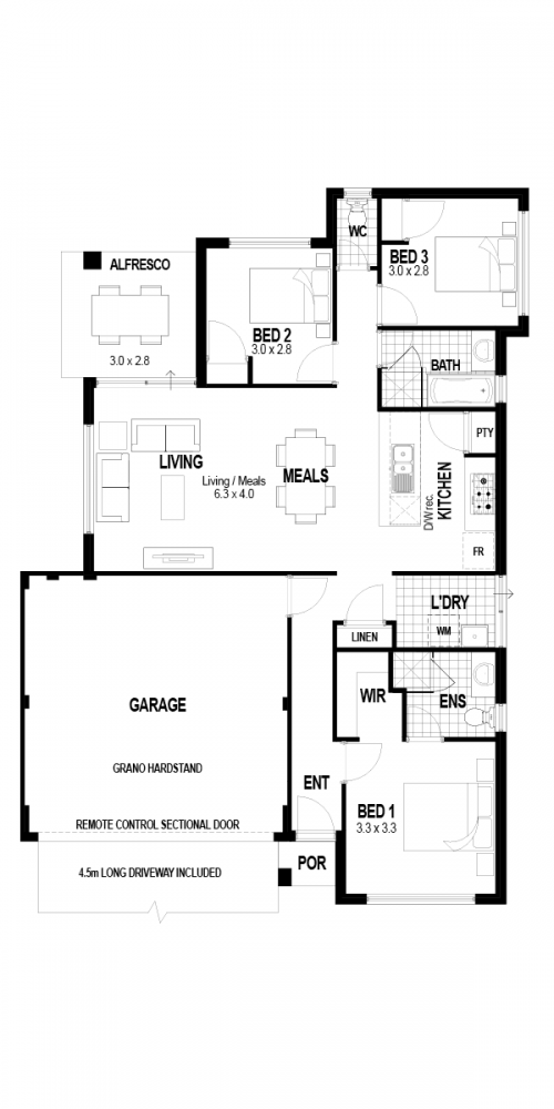 Floorplan for The Rise