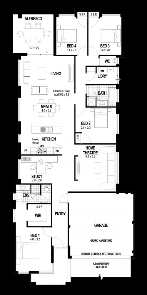Floorplan for The San Remo