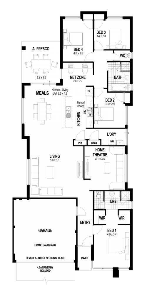 Floorplan for The Solace