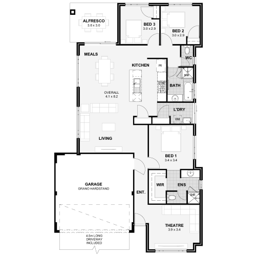 Floorplan for Lot 426 Tailspin Road, Brabham