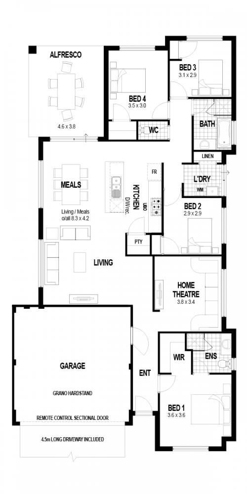 Floorplan for Lot 4 Guava Rise, Upper Swan
