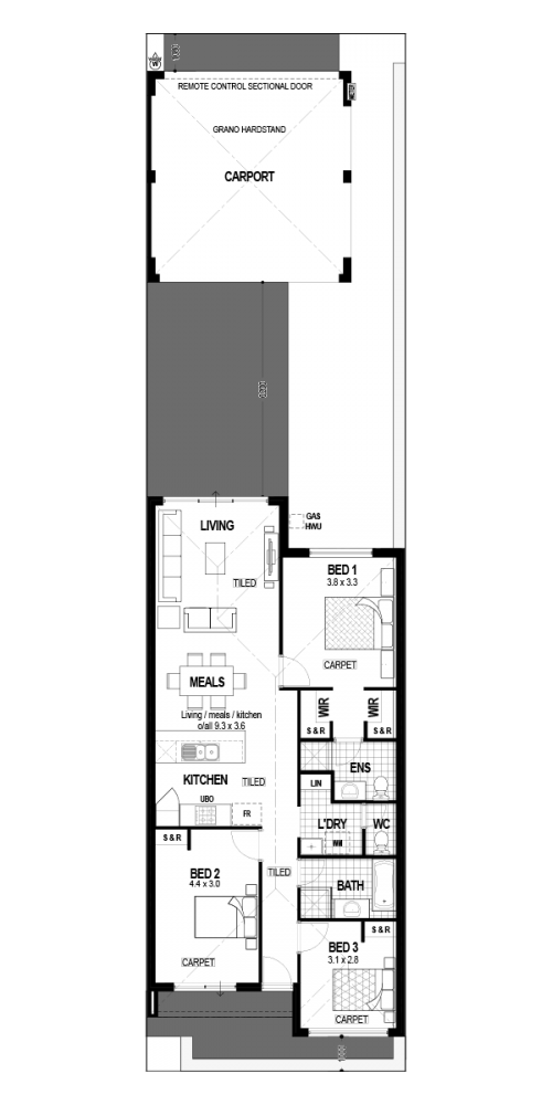 Floorplan for Lot 1639 Barney Road, Alkimos