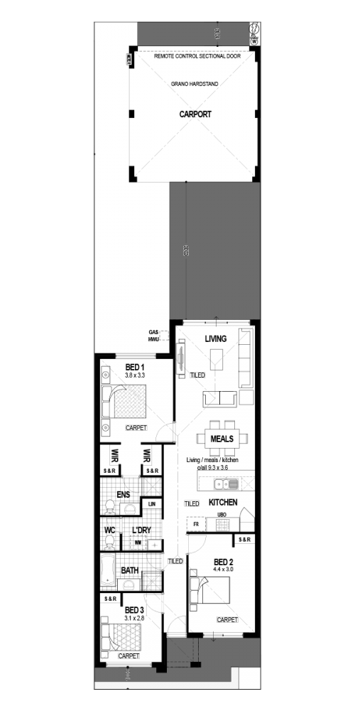 Floorplan for Lot 1640 Barney Road, Alkimos