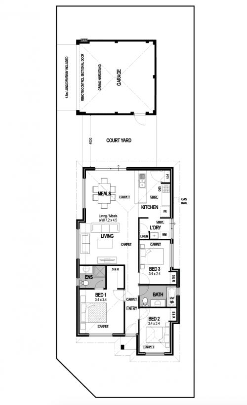 Floorplan for Lot 13 Renne Lane, Port Kennedy
