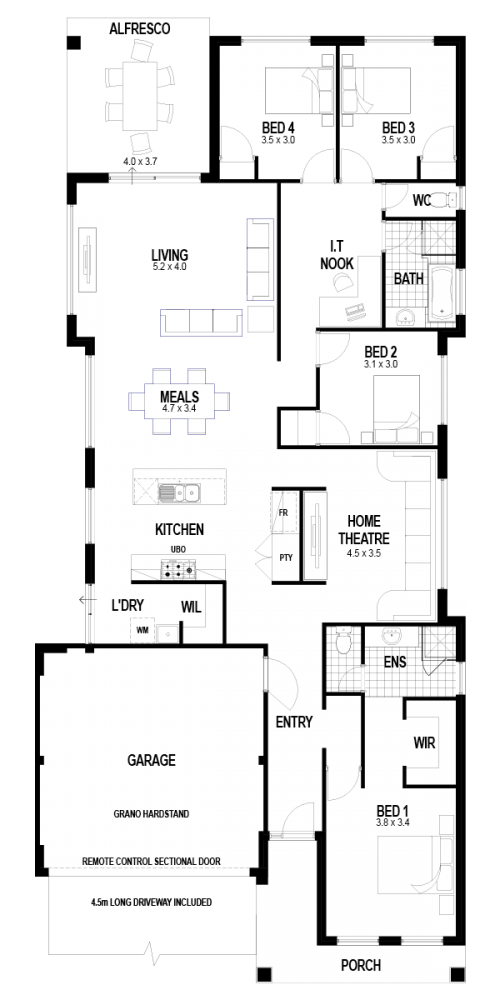 Floorplan for The Sands