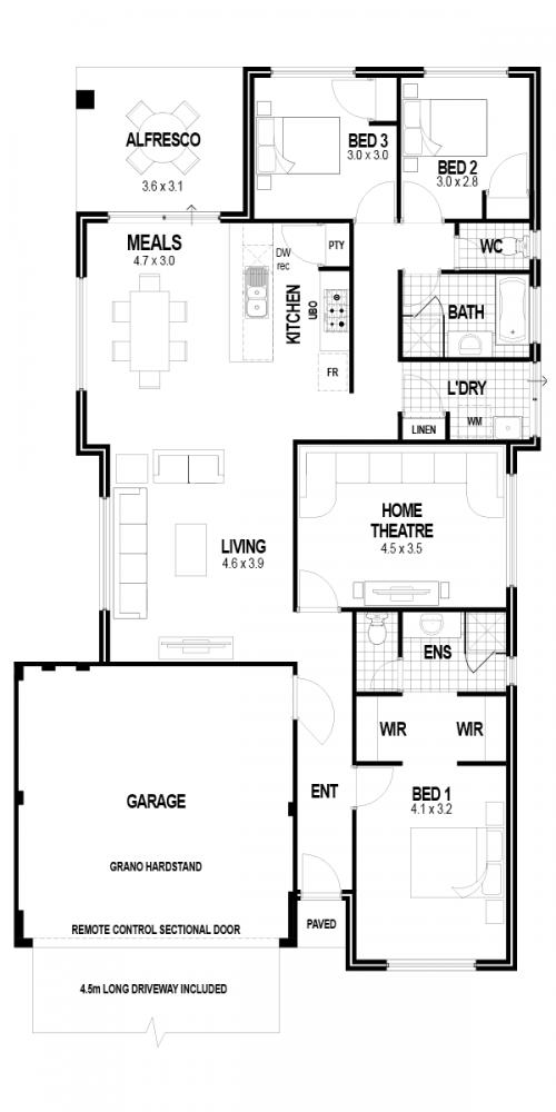 Floorplan for Lot 165 Harrisdale Green Estate, Harrisdale