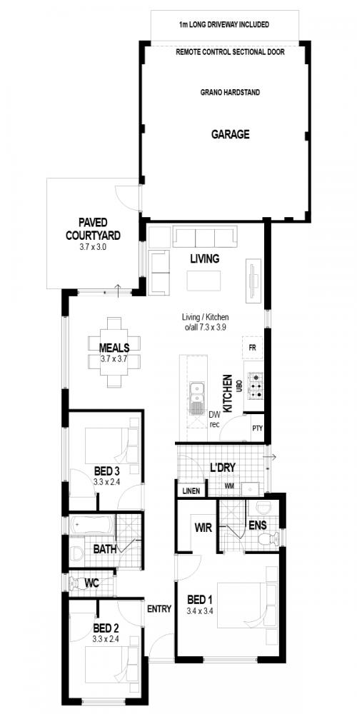 Floorplan for Lot 1042 Sutcliffe Retreat