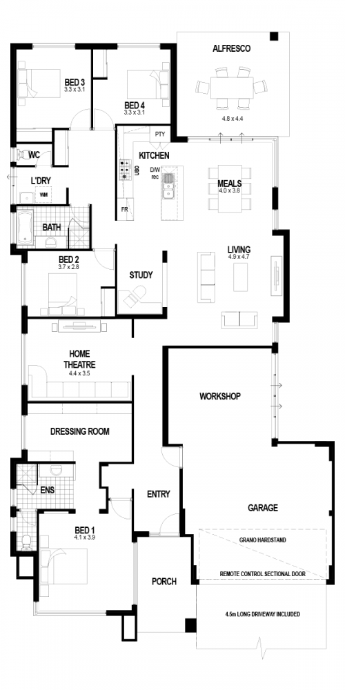 Floorplan for The Memphis